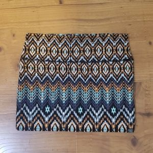 Billabong aztec print skirt